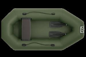 Лодка ПВХ Фрегат М-1 (200 см) с гребками надувная гребная